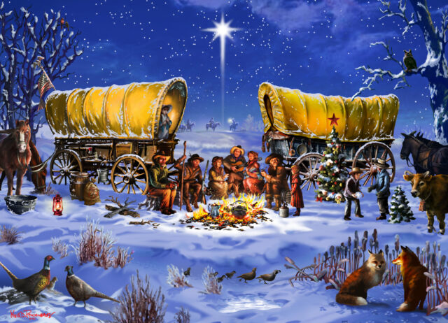 """A Very Prairie Christmas"" holiday card, 2021"